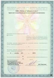 Лицензия клиники урологии. Вторая страница